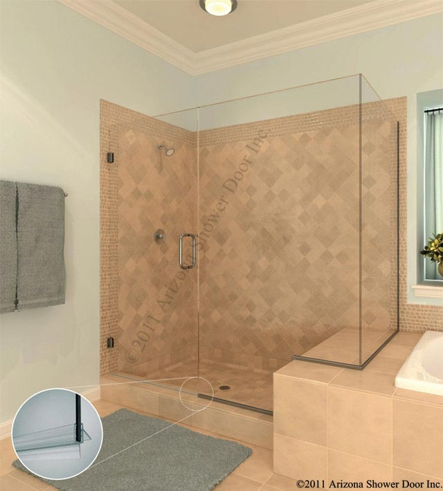 Deluxe bath arizona shower door frameless heavy hinge euro systems planetlyrics Image collections
