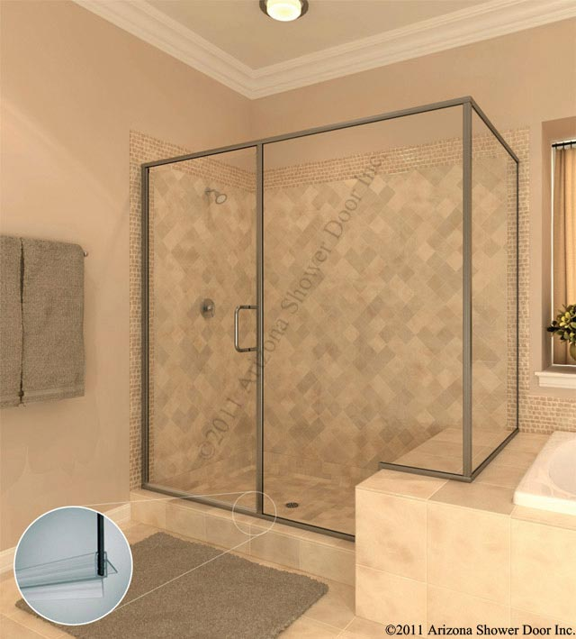 Semi Frameless Shower Enclosures deluxe bath | arizona shower door