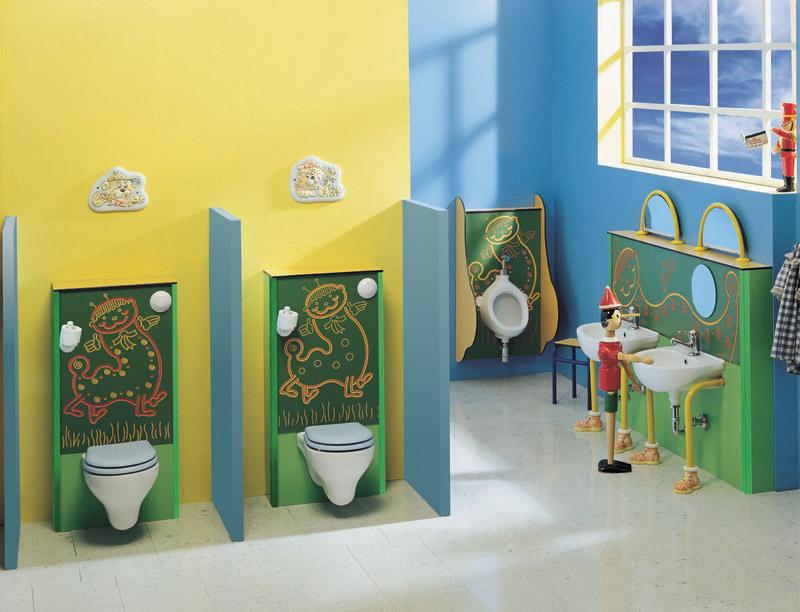 Оформление туалета в детском саду своими руками